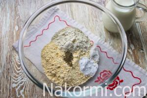 Гороховые оладьи с чесноком и молоком на сковороде - рецепт пошаговый с фото