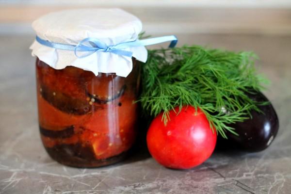 Салат из помидоров с баклажанами на зиму