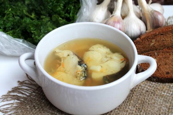 Постный рыбный суп из хека