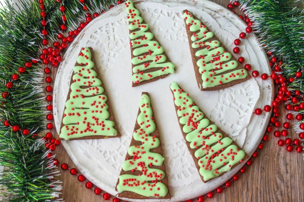 Песочное печенье Новогодние елочки