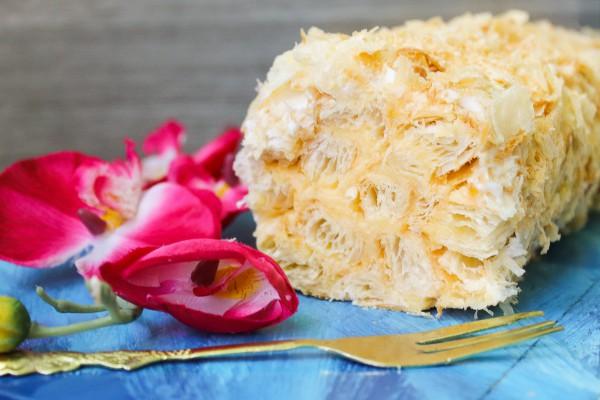 Торт Полено с заварным кремом