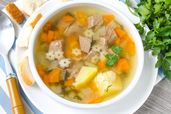 Суп из говядины с картошкой и вермишелью