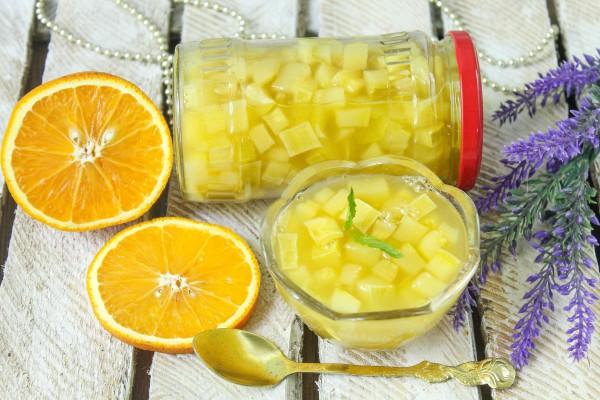 Варенье из кабачков с апельсиновым соком