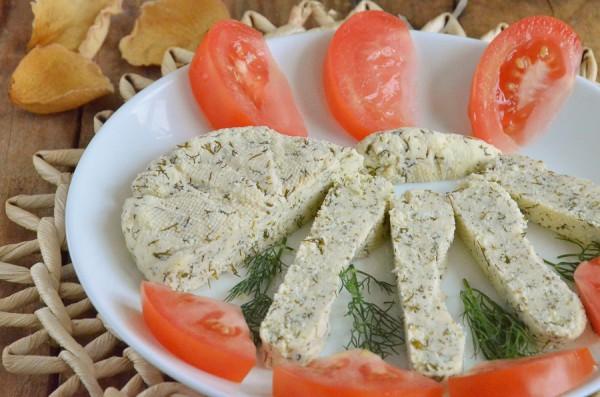 Домашний мягкий сыр с укропом