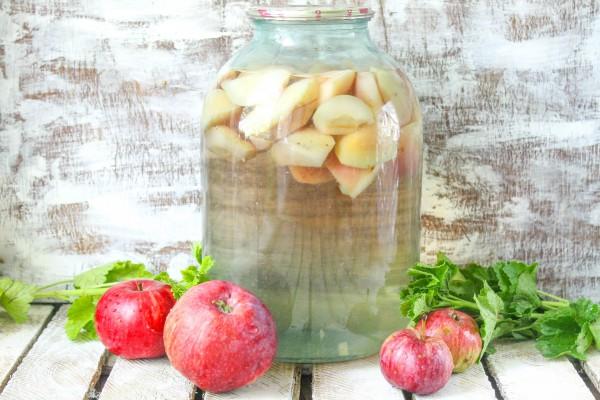 Компот из яблок на зиму без стерилизации