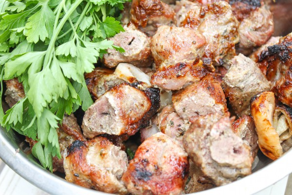 Шашлык из свинины в сметане