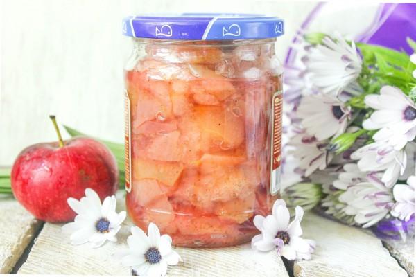Варенье из яблок на зиму с мятно-лимонным сахаром и корицей
