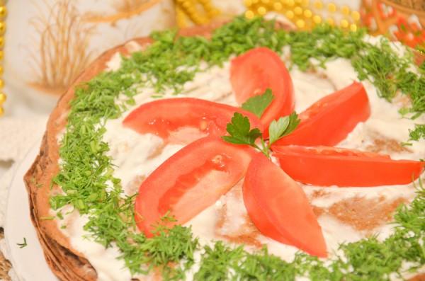 Печеночный торт из печени индейки