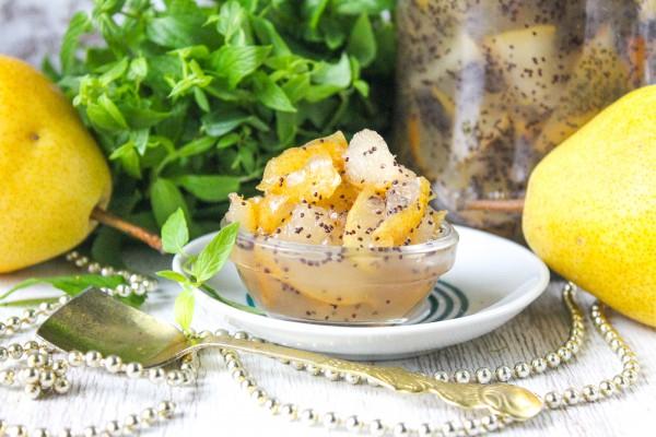 Варенье из груш с маком в хлебопечке