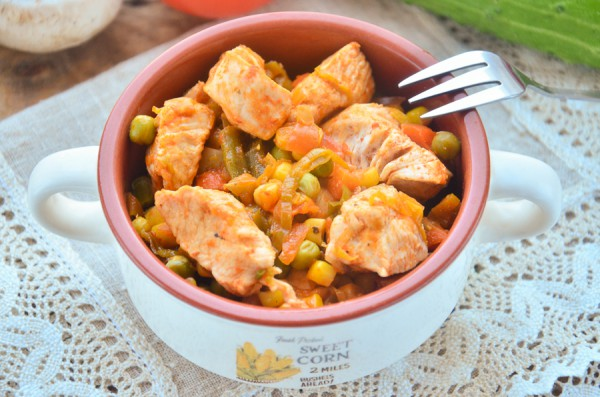 Курица с овощами по-мексикански