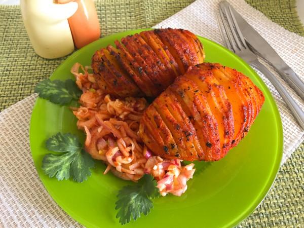 Картофель Гассель с маринованным луком