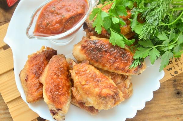 Крылышки, жаренные в соевом соусе с горчицей