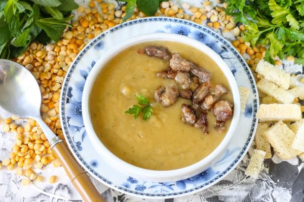 Гороховый суп-пюре в мультиварке
