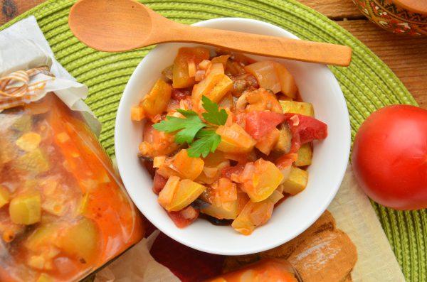 Тушеные овощи на зиму