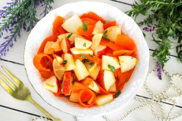 Салат из тыквы с яблоками