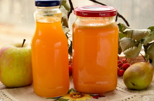 Сок из тыквы и яблок