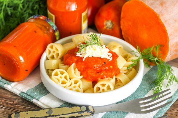 Тыквенный соус для макарон