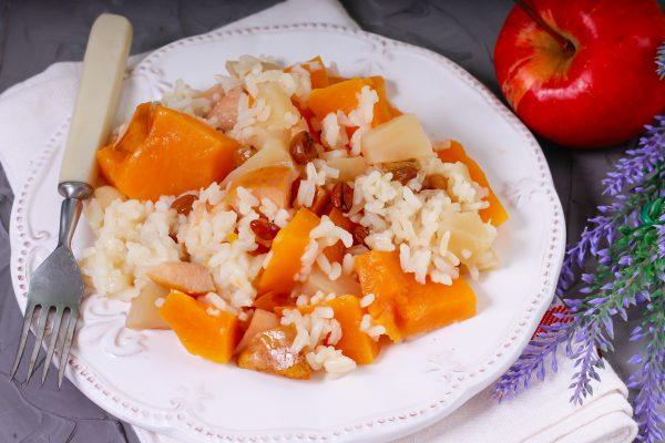 Рис с фруктами