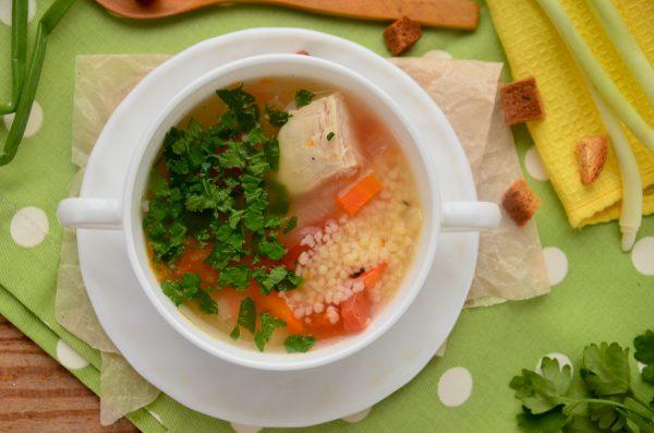Суп по-мароккански с курицей и кускусом