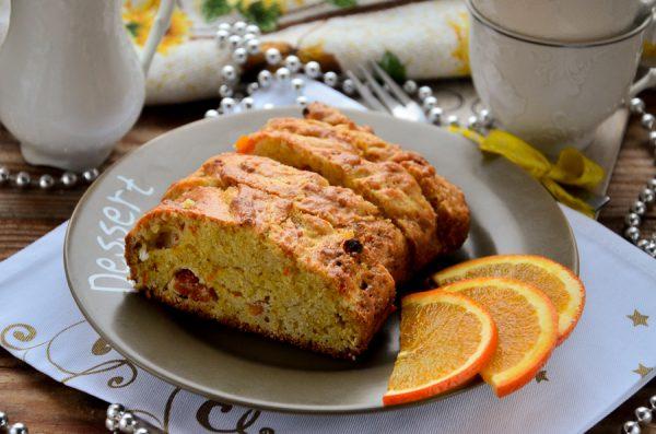 Кекс с апельсиновой цедрой и курагой