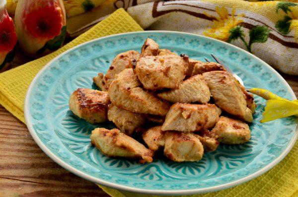 Куриное филе с корицей, горчицей и чесноком