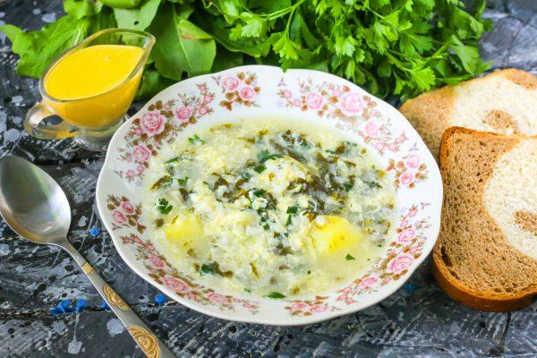 Зеленый суп в мультиварке