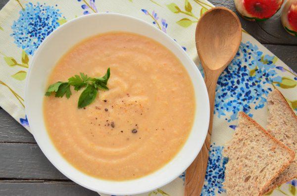 Гороховый суп-пюре с курицей