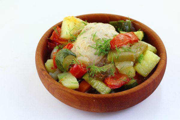 Курица с баклажанами и картофелем