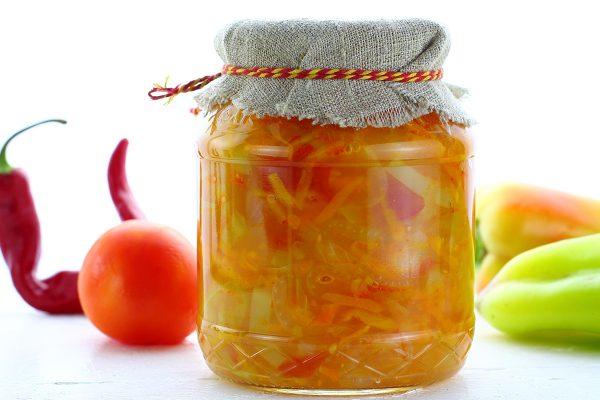 Салат из болгарского перца и помидоров на зиму