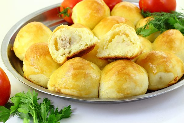 Пирожки с фаршем и картошкой