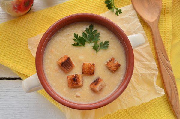 Суп-пюре из картофеля и курицы