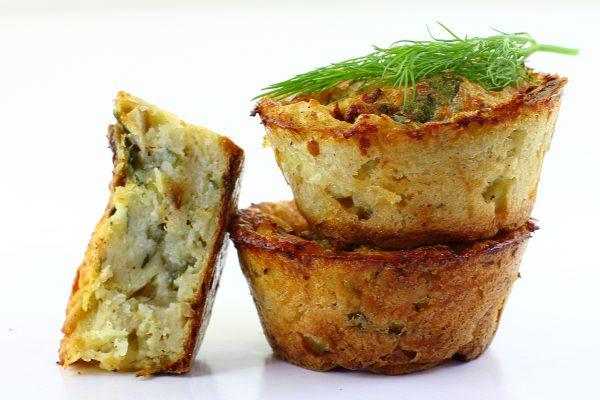 Картофельные маффины с грибами
