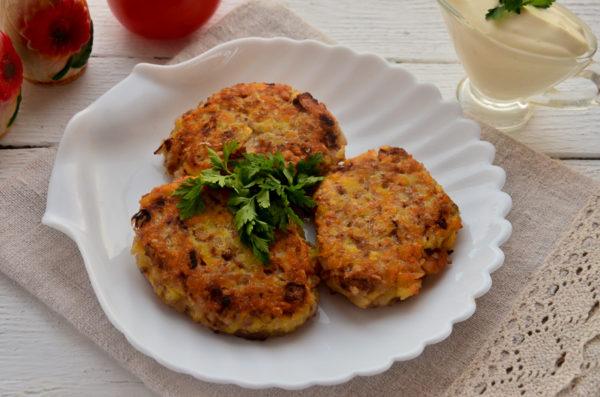 Котлеты из гречки и картошки