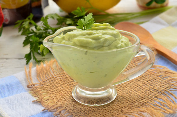 Соус из авокадо для оливье
