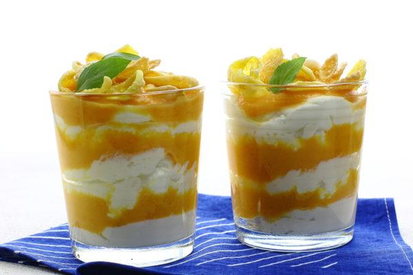 Десерт из творога и тыквы