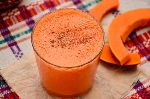 Сок из тыквы и моркови с имбирем