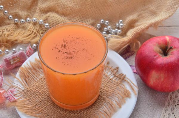 Тыквенно-яблочный сок с мякотью