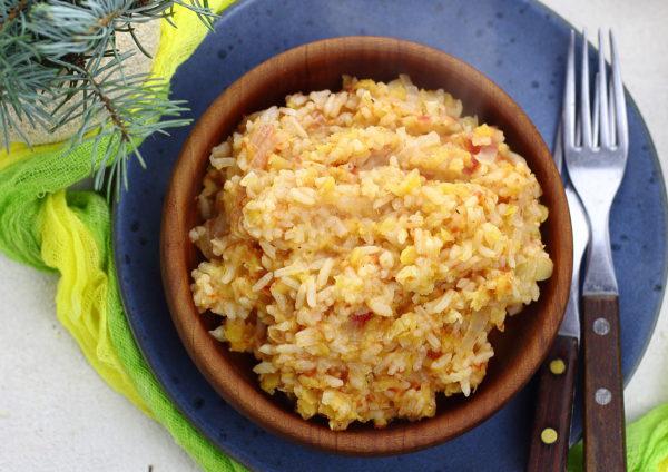 Чечевица с рисом