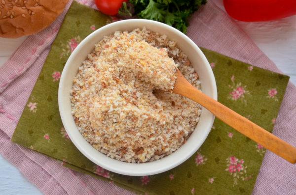 Панировочные сухари, приготовленные в духовке