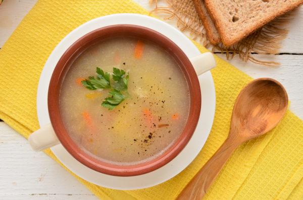 Пшеничный суп с индейкой в мультиварке