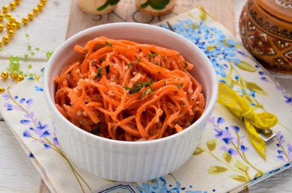 Морковь по-корейски с грецкими орехами