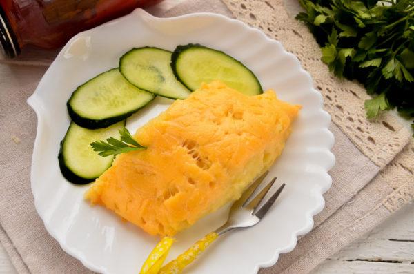 Картофельное пюре с сыром в духовке