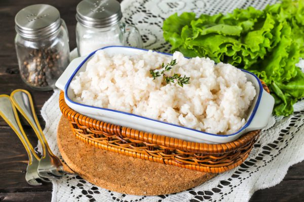 Отварной рис в мультиварке
