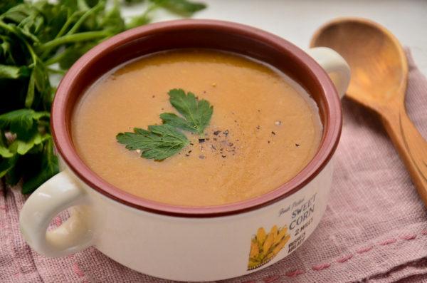 Суп-пюре из кабачков и тыквы