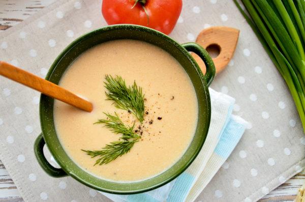 Суп-пюре из семги со сливками
