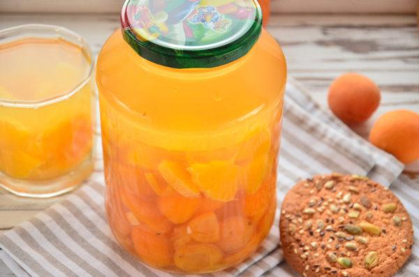 Компот из абрикосов и апельсина на зиму без стерилизации