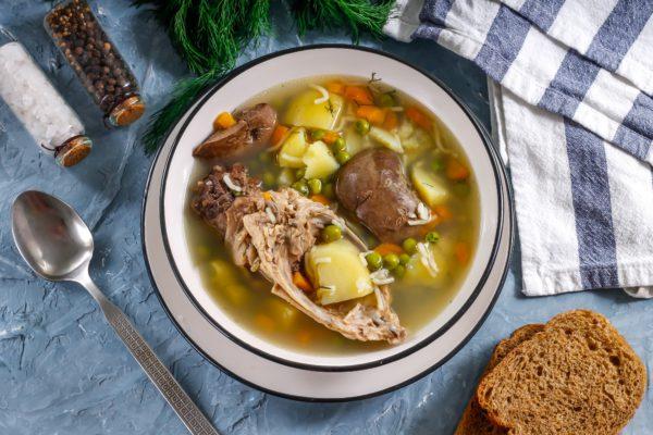 Суп из кролика с овощами