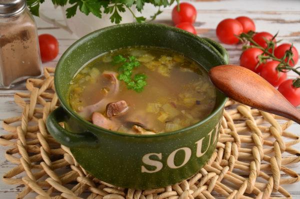 Суп из куриных потрошков