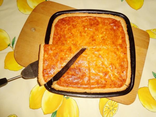 Пирог с сыром и красным перцем