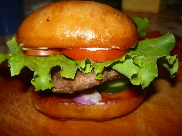 Гамбургеры с куриной котлетой